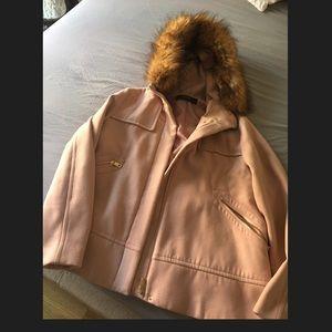13bb21895 Zara Coat with Textured Hood - Brand New Pink